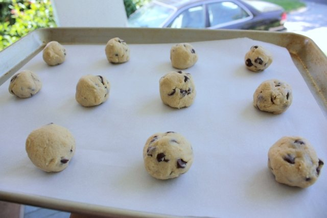Cookie dough, ready for the dashboard