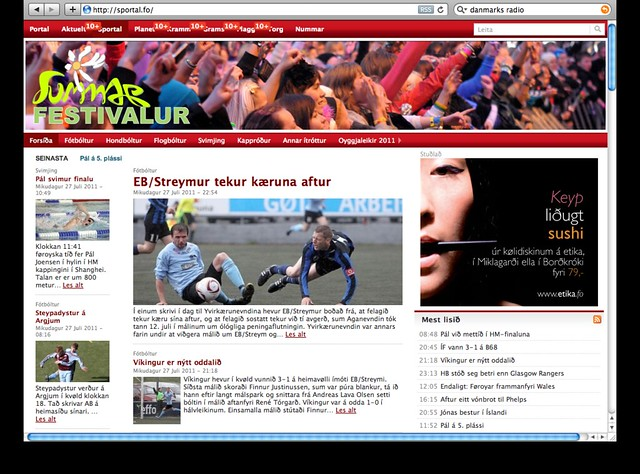 Faroese sport news today
