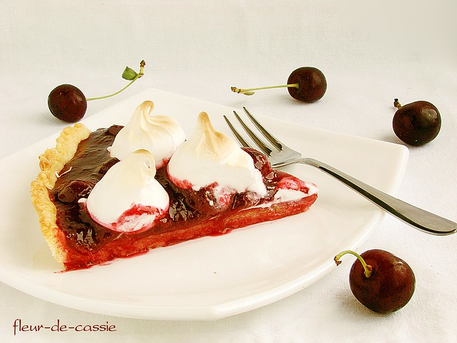 тарт вишневый с меренгой 2