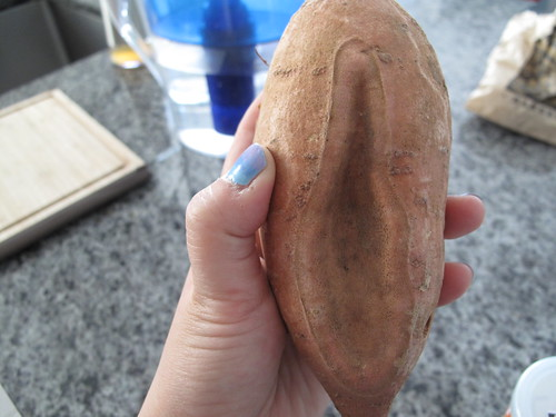 My sweet potato has a vagina