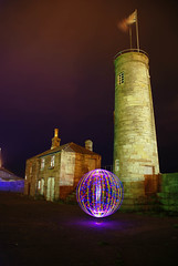 Watchtower parsec orb (mlwats) Tags: light art harbour cumbria whitehaven watchtower junkies