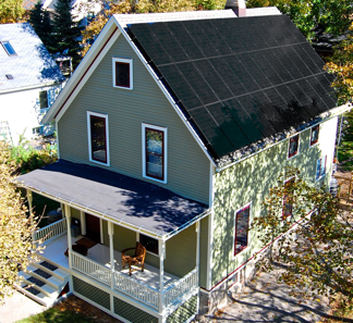 the net zero house in Ann Arbor today (via Kelly & Matt's Net Zero House)