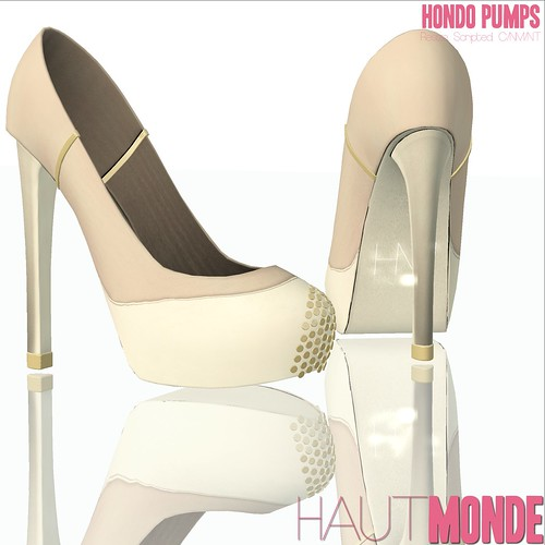 Hondo Pumps - Tan and Cream