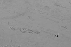 Alone. Boston. USA. (Sebastien Bretonneau) Tags: summer blackandwhite bw usa france art boston canon french photography eos vacances photo sand brittany europe solitude alone photographie artistic noiretblanc sable bretagne nb lonely usm été 70200 28l montsaintmichel seul 30d hollidays artistique