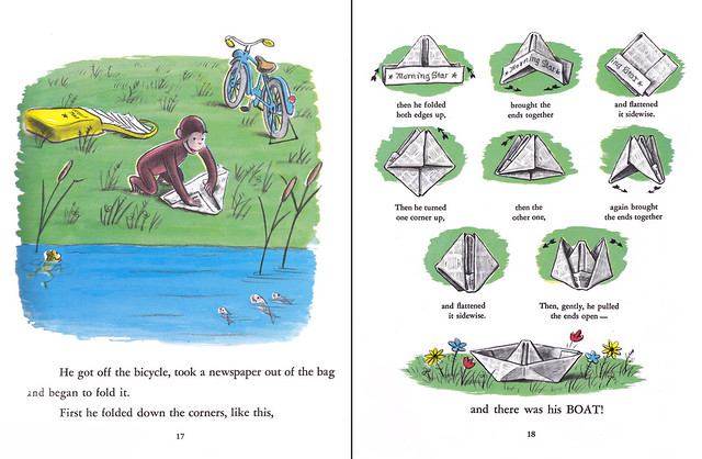 Curious george-boat instructions