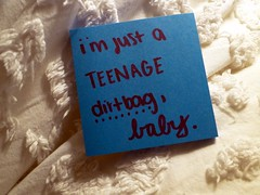 wheatus. (heyitssaraa) Tags: typography post quote song it note teenage dirtbag lyric