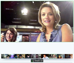 KOMU G-Plus Hangouts - pix 00a - Sarah Hill and Nina Moini