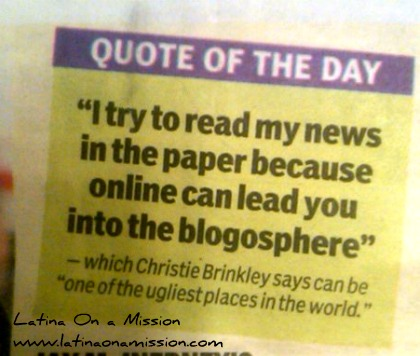 Christie Brinkley Quote