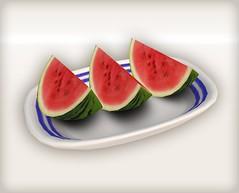 Watermelon gift 03 (Ayumi Cassini) Tags: watermelon secondlife freebie