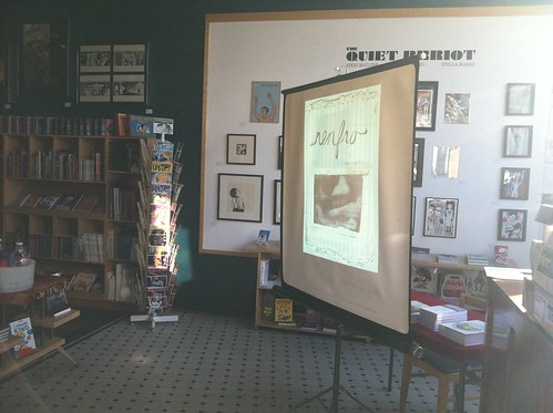 Big Questions slideshow at the Fantagraphics Bookstore & Gallery