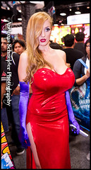 Jessica Rabbit was spotted at Comic-Con 2011. (andreas_schneider) Tags: costumes hair cool sandiego cosplay dressup convention characters comiccon cci 2011