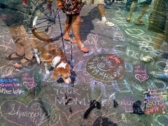 Love Is A Chalk Heart (Metrix X) Tags: toronto market cellphone kensington utata:project=cellphonecamera