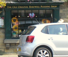 Old Original Bakewell Pudding Shop Sign