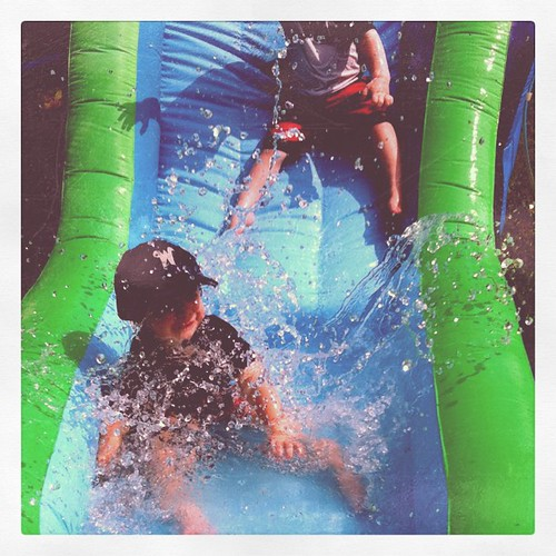 Sunday: Coleman + Colton and water slide fun!