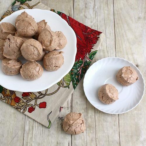 Cocoa Almond Meringues