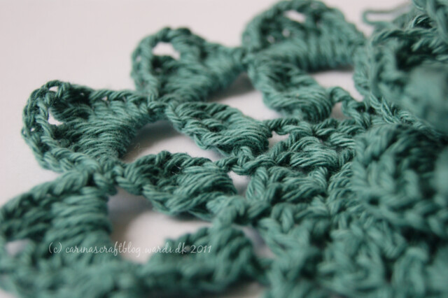 Crochet shawl wip