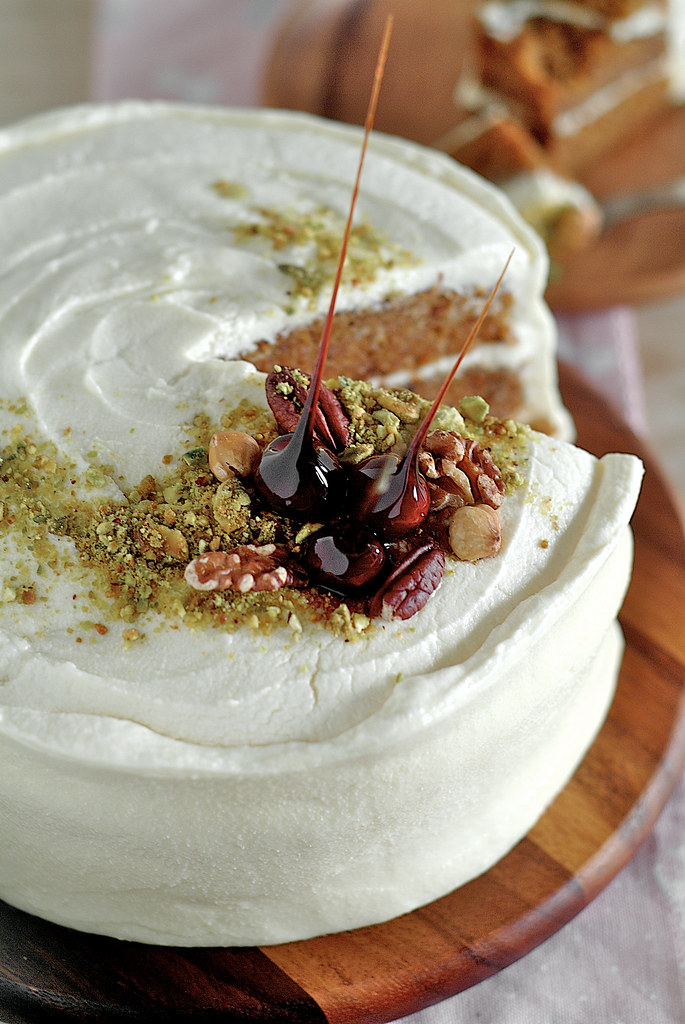 Carrot Cake with Maple Cream Cheese Frosting - Life is Great