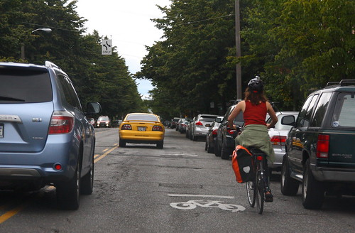 Riding with Sharrows