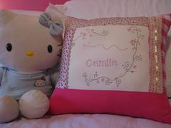 almofada Camila (ceciliamezzomo) Tags: handmade pillow patchwork cushion almofada bordado