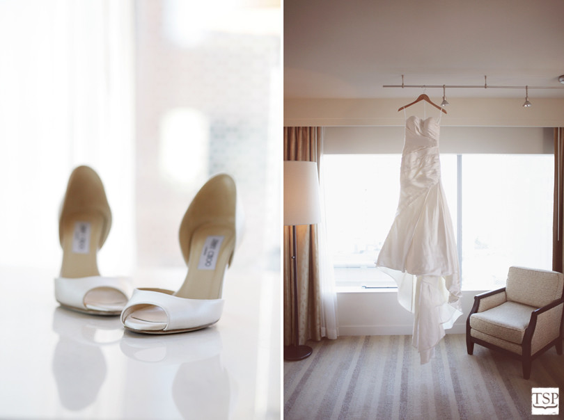 Shoes and Wedding Dress