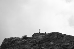 INRI (The Lightness of a Dandelion) Tags: blackandwhite bw panorama mountains lago view inri biancoenero volaia paesaggioalpino passovolaia