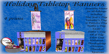 PDN's Holiday Table Top Banners 50L$