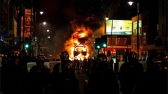 riots in Tottenham and moving towards me in Edmonton by boysnips