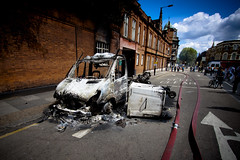 Burt Out - Aftermath of Tottenham Riots by AndrewPagePhotography