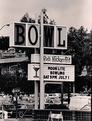 The original sign, which once had Quees Golden Gate at the top, had been shortened by the time Mark Koehler took this photo for the El Cerrito Journal in 1989.