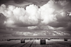 France #15: Rolling Towards Eternity (PetterPhoto) Tags: trip travel sky bw paris france clouds dark french nikon report dramatic images fields normandie nikkor eternity 18200 towards rolling bayeux bessin hayball d300s petterphoto