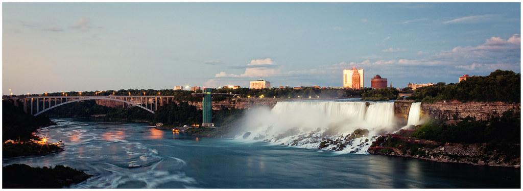 Niagara Falls - American Falls and the Rainbow Bridge