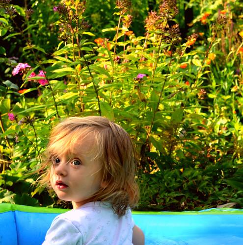 Mein Baby geht baden- und dass sogar freiwillig