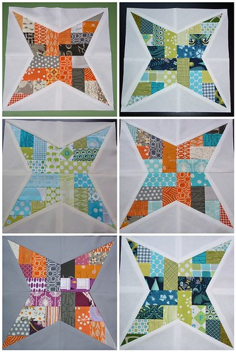 4x5 bee blocks - All 6 together!