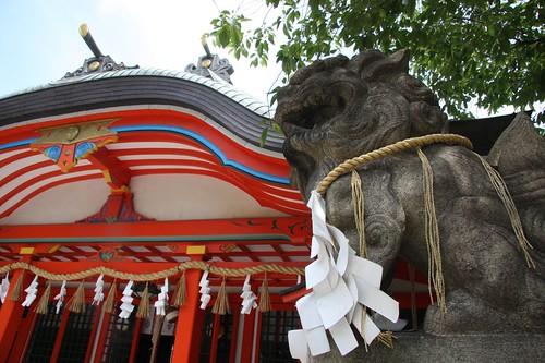 狛犬と神社 / Guardian dog of the Shinto shrine