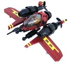 Crimson fighter (aabbee 150) Tags: crimson plane fighter lego aircraft fantasy scifi bomber moc skyfi dieselpunk dieselpulp