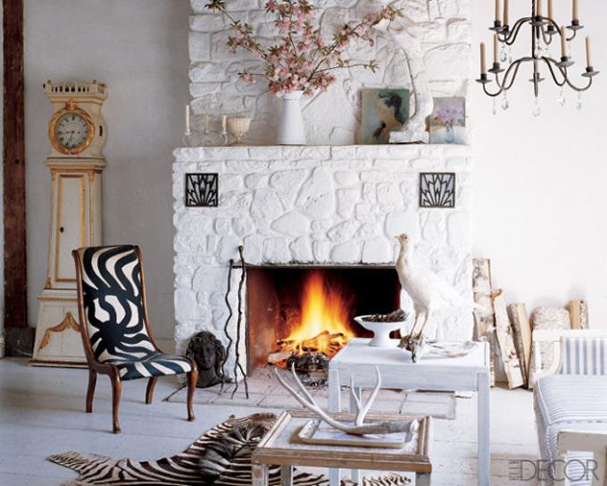 Elle Decor white living room