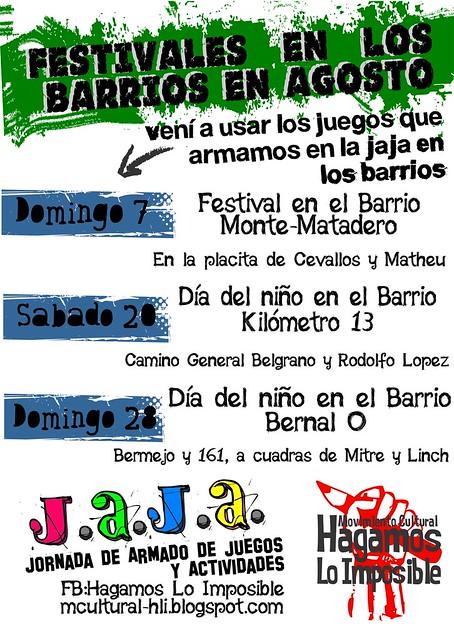 Cronograma festivles JAJA