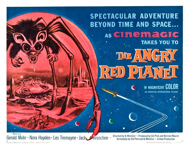 The Angry Red Planet (American International, 1960) Half Sheet