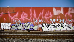 Pear, Jurne & Keys (Say Cheese & Die) Tags: sf keys graffiti bay tracks spray east pear civ jags jurne krime