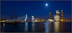 ANOTHER VIEW on ROTTERDAM under a FULL MOON (Jodyvoshrotterdam) Tags: bridge cruise blue newyork color building netherlands colors skyline architecture night stars rotterdam downtown raw colours skyscrapers nightshot erasmus spiegel sony south neworleans fullmoon crop oldphoto jody brug subwaystation maas centrum nightphotos starburst architectuur erasmusbrug centraal distorsion xposure zuidholland wilhelminaplein erasmusbridge maan parkhaven nightpictures rotjeknor dehef rdam rotterdamzuid reflecties wolkenkrabber nachtfoto 1118mm manhattanaandemaas sonyalpha rotterdamsouth picknickers dekaap sonykitlens sonya200 sonydsrla200 parkeuromast mooistestadvannederland reflectionlovers newmaas downtownrotterdam jodyvoshrotterdam rotterdamstream rdamzuid
