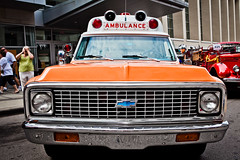Dismay (ScottJphoto) Tags: orange antique ambulance chevy emergency fireandrescue