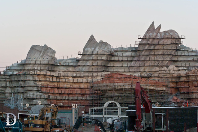 Disney California Adventure - Cars Land Construction
