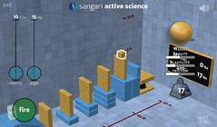 Sangari Physics Game - Examining the wooden block