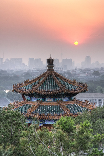 Pavillon at Sunset, Jingshan Park, Beijing, China