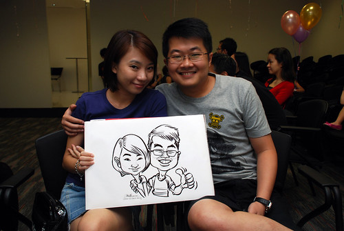 caricature live sketching for iFast Financial Pte Ltd - 9