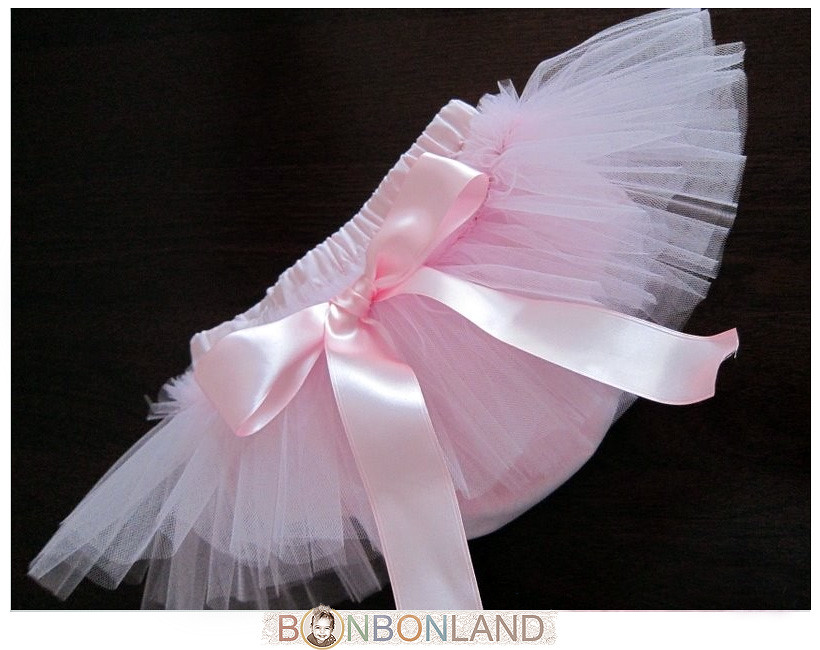 TuTu Ruffled Baby Bloomers (Diaper Covers) and Skirt in Vintage Style - Pink Petit Ballerine - photo prop