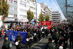 Bundesweite Demonstration gegen die Einheitsfeierlichkeiten