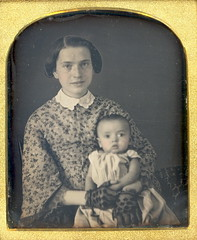 Young Happy Mother Daguerreotype (Mirror Image Gallery) Tags: victorian daguerreotype youngmother