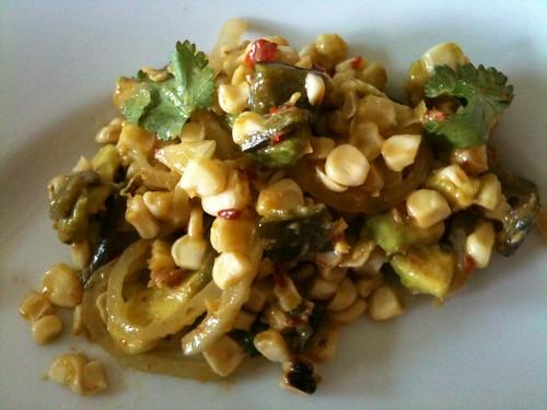 40 - Grilled Corn Poblano Salad with Chipotle Vinaigrette