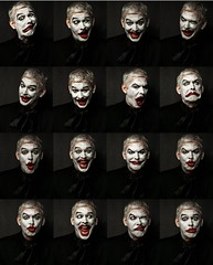 All in one (winzor2007) Tags: show light white man black male face collage closeup set funny adult natural artistic theatre background stage rad expressions makeup posing montage actor alexander mime seria facial klown volzhsky retratto baranov